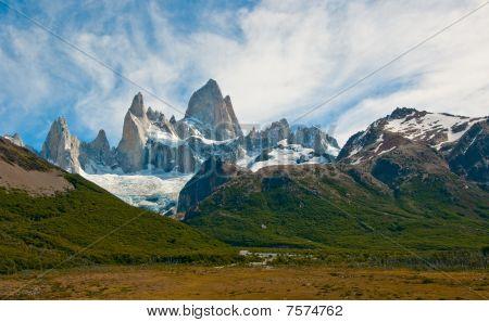 Fitz Roy montanha e Laguna De Los Tres, Patagônia, Argentina
