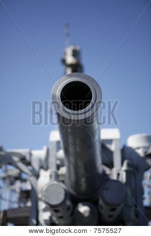 The main cannon onboard a US Navy Submarine (Shallow Depth of field)