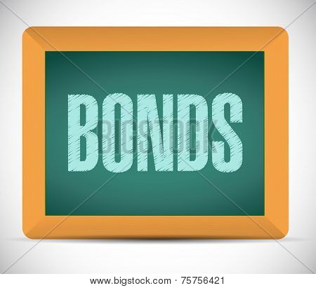 Bonds Sign On A Board. Illustration