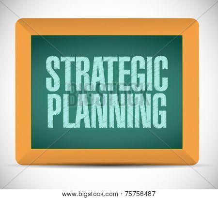 Strategic Planning Sign Illustration Design