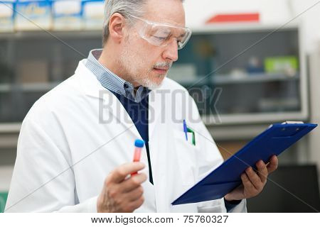 Researcher at work in a laboratory