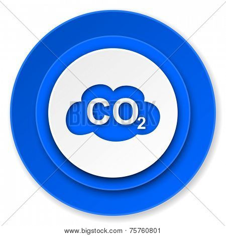 carbon dioxide icon, co2 sign