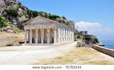 Palace in the town of Corfu, Greece, Europe