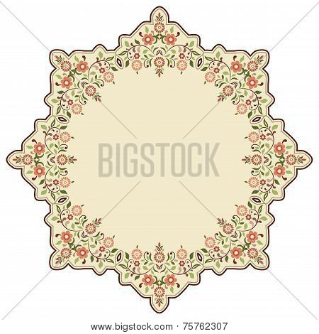 Circular Islamic Background Three