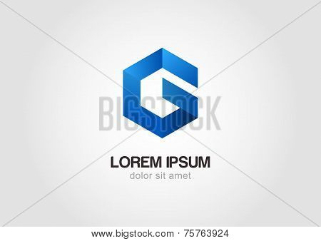 Vector Logo Design Template. Hexagon Infinity Loop Shape,  Business Technology Abstract Symbol.