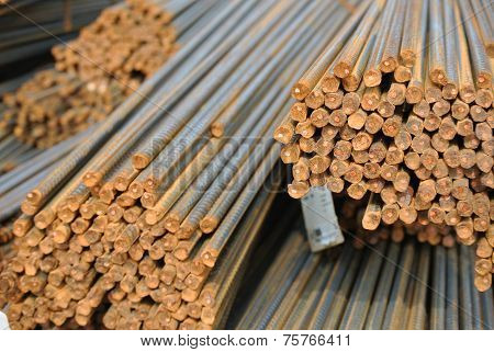 Reinforcement bars - Steel rods or bars used to reinforce concrete