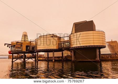 Oil Industry Museum in Stavanger Norway - technology and travel background