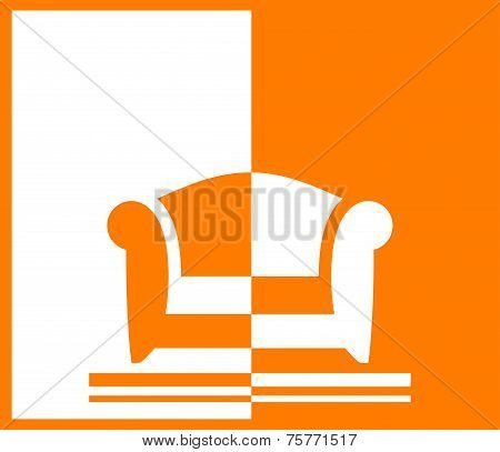 Yellow Background With Armchair