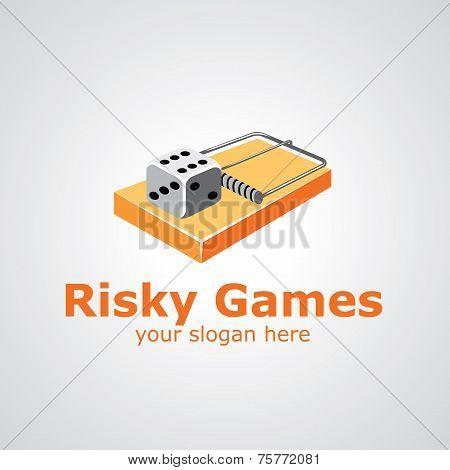 Risky Games Vector Logo Design