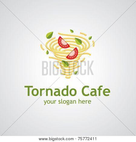 Tornado Cafe Vector Logo Design
