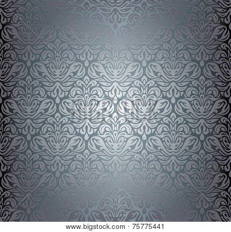 Silver luxury vintage pattern grunge  wall paper