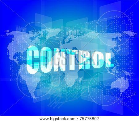 Control Word On Digital Tiuch Screen Interface Hi Technology