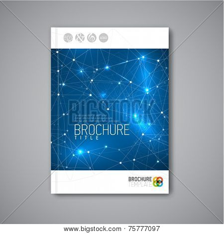 Modern Vector abstract brochure / book / flyer design template with triangles