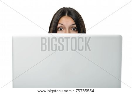 Woman With A Look Of Surprise And Admiration