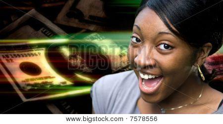 Happy Money Woman