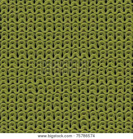 Green Texture Of Knitwear Pattern