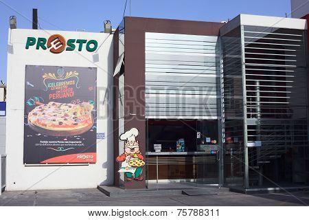 Presto Pizzeria in Arequipa, Peru