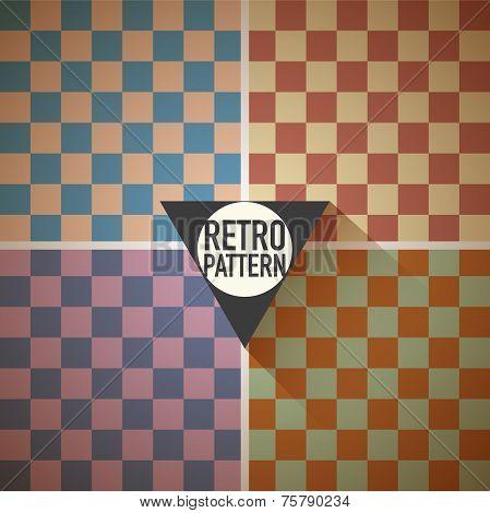 Retro hipster squares background