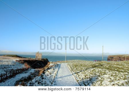 Ballybunion Castle Snow Scene