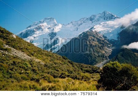 A Scene Of  Mount Cook Np