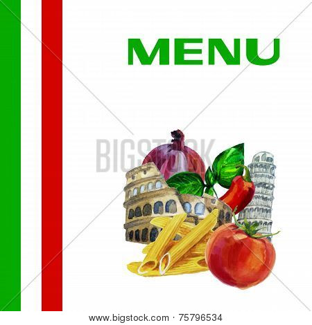 Italian cuisine menu design background
