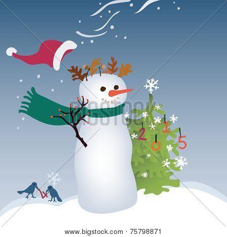 Shaggy Snowman