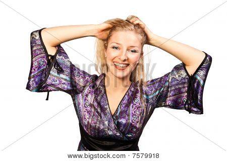 Woman in studio