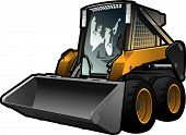 stock photo of skid-steer  - A small skid loader - JPG