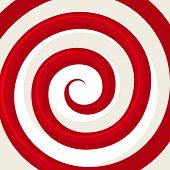stock photo of sensory perception  - Red Hypnosis Spiral Pattern - JPG