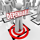 image of obey  - Dependable 3d word on a worker - JPG