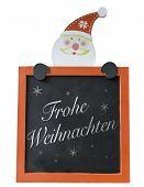 image of weihnachten  - Christmas Blackboard written Merry Christmas  - JPG