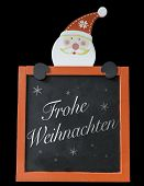 picture of weihnachten  - Christmas Blackboard written Merry Christmas  - JPG