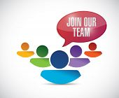 image of joining  - join our team illustration design over a white background - JPG