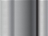 picture of metal grate  - Concept conceptual gray abstract metal stainless steel aluminum perforated pattern texture mesh background as metaphor to industrial - JPG