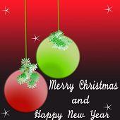 stock photo of merry chrismas  - merry chrismas background with on vector illustration - JPG
