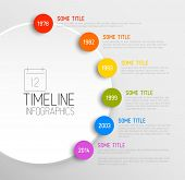 stock photo of web template  - Vector Infographic timeline report template with icons - JPG