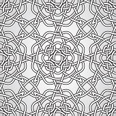 image of celtic  - Vector Celtic Seamless Pattern fully editable eps 10 file with clipping masks and seamless pattern in swatch menu - JPG