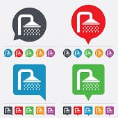 picture of douche  - Shower sign icon - JPG