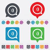 picture of bubbles  - Chat sign icon - JPG