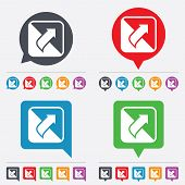 stock photo of bubble sheet  - Turn page sign icon - JPG