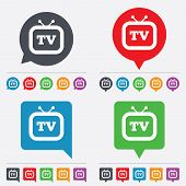 foto of tv sets  - Retro TV sign icon - JPG
