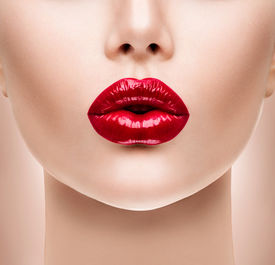 stock photo of big lips  - Sexy Lips - JPG