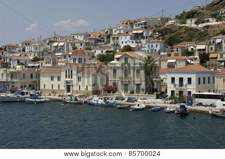 Picturesque Island Of Poros In Saronic Gulf