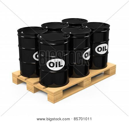 Pallet of Oil Drums