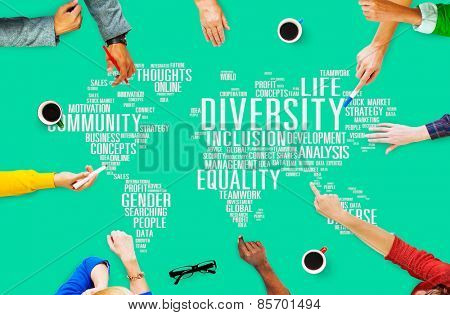 Diversity Community Meeting Business People Concept