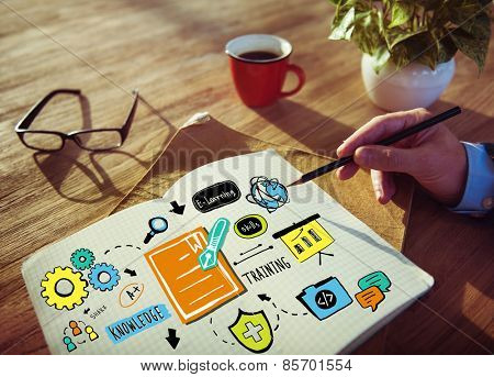 Business Training Strategy Designer Planning Working Concept