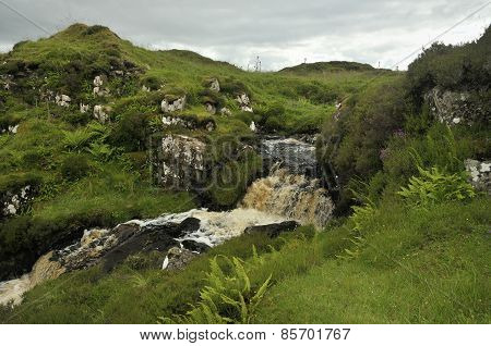 Waterfalls On River Rha