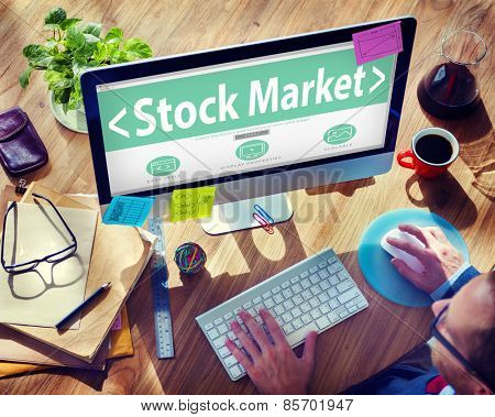 Stock Market Business Browsing Concept