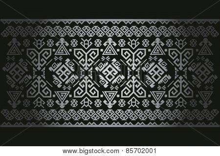 Vector background pattern old antique Turkish carpet Symbols