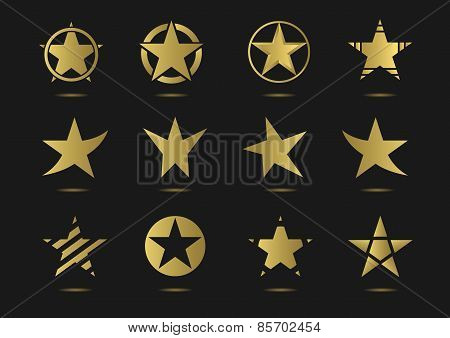 star vector logo icon set